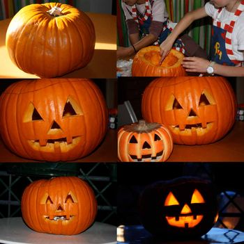 Collage pumpkin carving